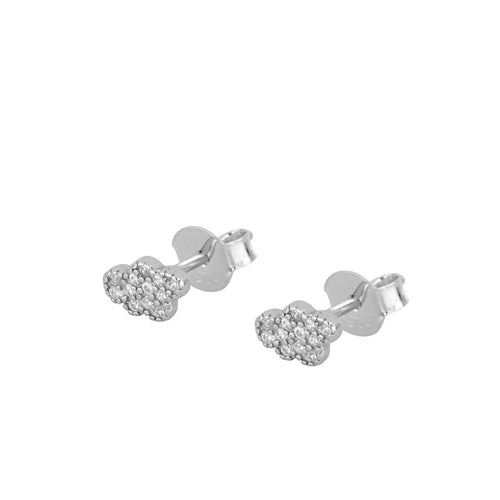 Shine Cloud Silver Earrings