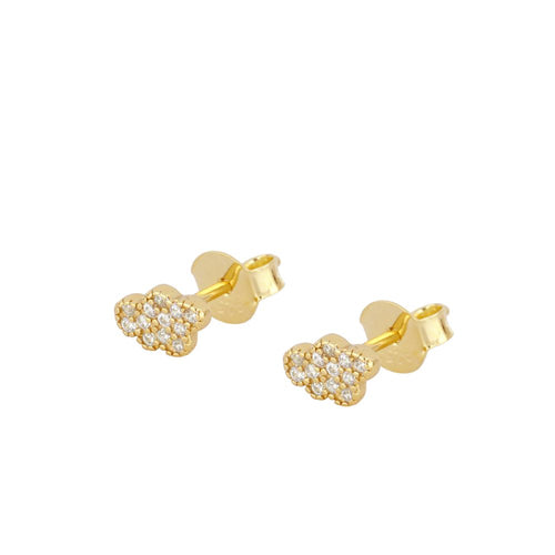 Shine Cloud Gold Earrings