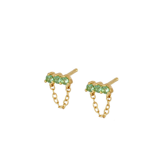 Noel Green Gold Earrings