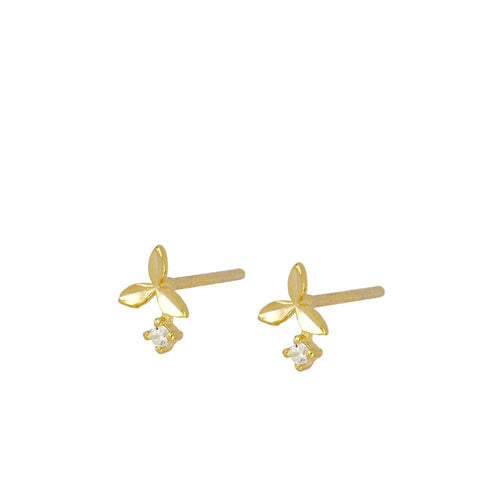 Lotus Gold Earrings