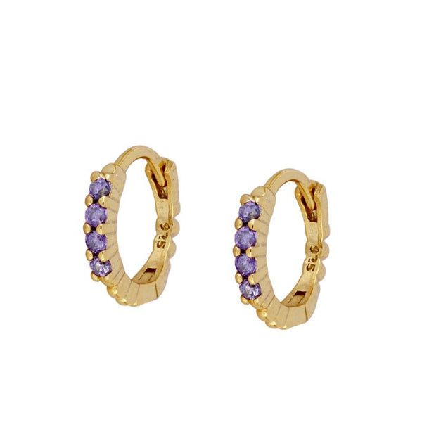 Pendientes Dream Violet Gold