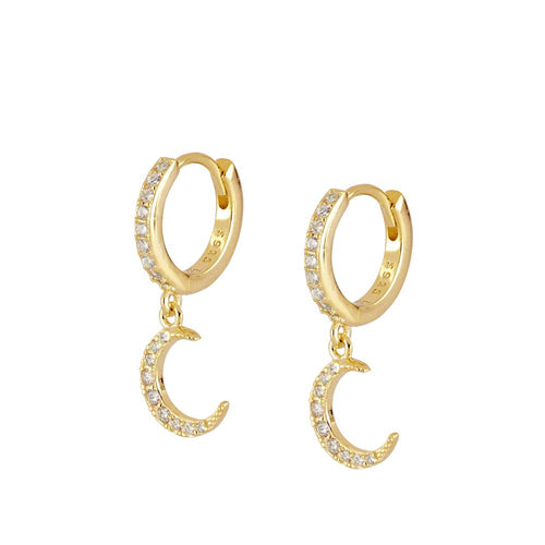 Brille Moon Gold Earrings