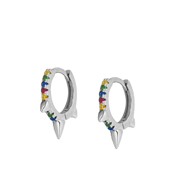 Pendientes Colours Rock Silver