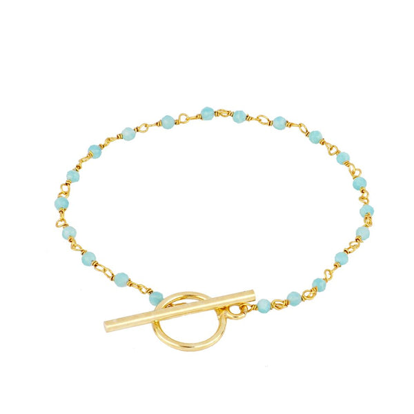 Pulsera  Zoe Blue Gold