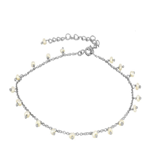 Pearl Silver Anklet