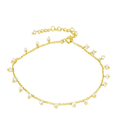 Pearl Gold Anklet