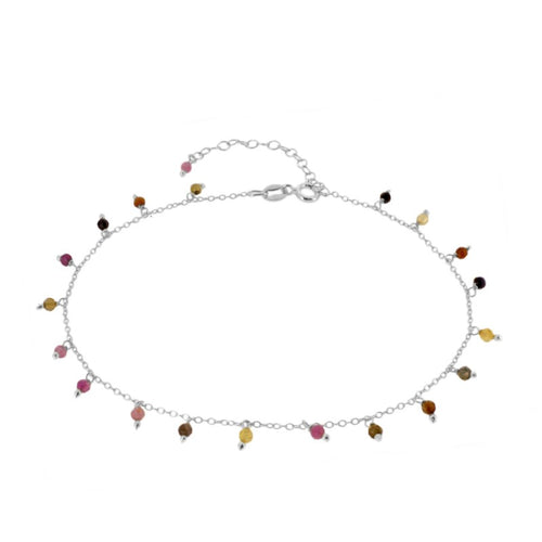 Amazonas Color Silver Anklet