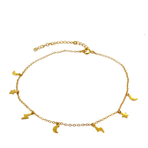 Galaxi Gold anklet