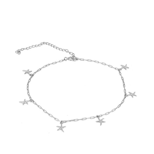 Sea Silver Anklet