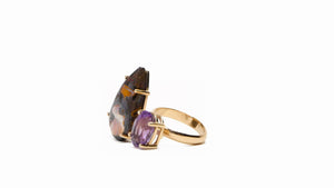 LIGHTENING OPAL AMETHYST RING - HARRIS ZHU