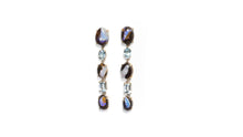Load image into Gallery viewer, LIGHTENING OPAL AQUAMARINE EARRINGS - HARRIS ZHU