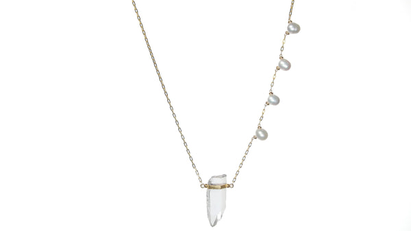 ARIZONA PEARL CRYSTAL QUARTZ PEARL NECKLACE - HARRIS ZHU