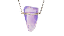 Load image into Gallery viewer, JANICE DIAMOND LAVENDER MOONSTONE NECKLACE - HARRIS ZHU
