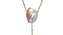 Load image into Gallery viewer, ELIZABETH PEARL CRYSTAL DIAMOND LARIAT - HARRIS ZHU