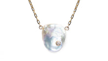 Load image into Gallery viewer, ELIZABETH PEARL DIAMOND BEZEL NECKLACE - HARRIS ZHU
