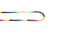 Load image into Gallery viewer, GYPSET DARK RAINBOW SAPPHIRE SINGLE STRAND NECKLACE - HARRIS ZHU