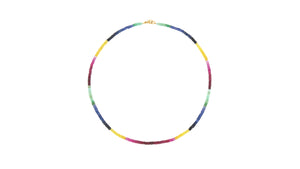 GYPSET DARK RAINBOW SAPPHIRE SINGLE STRAND NECKLACE - HARRIS ZHU