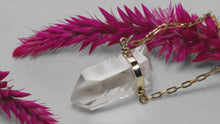 Load image into Gallery viewer, ZIGGY GOLD BAR CRYSTAL QUARTZ NECKLACE - HARRIS ZHU