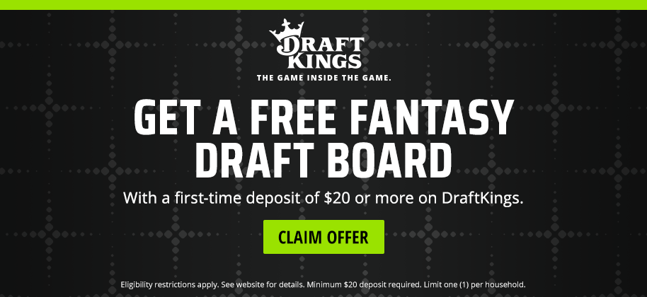 FJ Fantasy - Draft Kings - FREE Draft Board with Deposit