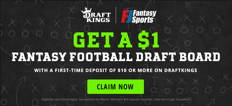 FJ Fantasy - Draft Kings - $1 Draft Board with Deposit