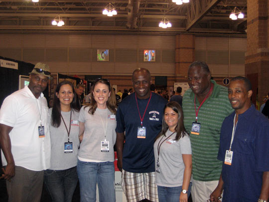 Fantasy Football Fest booth members