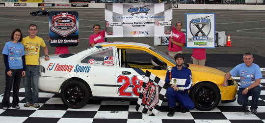 Jay Johnson in a car sponsored by FJ Fantasy Sports - 2011