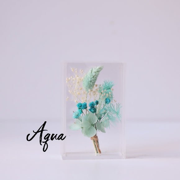 Aqua Baby Dried Flower Box