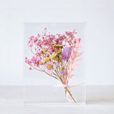 Wedding flower bouquet keepsake acrylic box