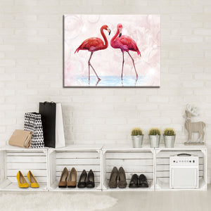 "Tableau ""Flamants roses"" - Intissio"