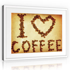 "Tableau ""i love coffee"" - Intissio"
