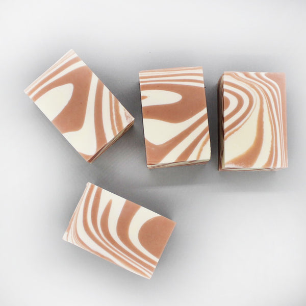 Pink Panther- Grapefruit and Peppermint Swirl Soap