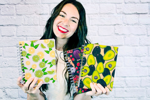 Jessie Billdt artist, designer, maker of Up Close Creative Co. journals, stickers, art prints, paper goods and gifts