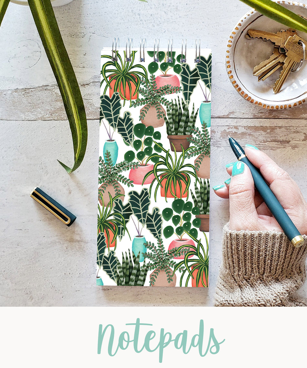 house plant notepad to do list pad