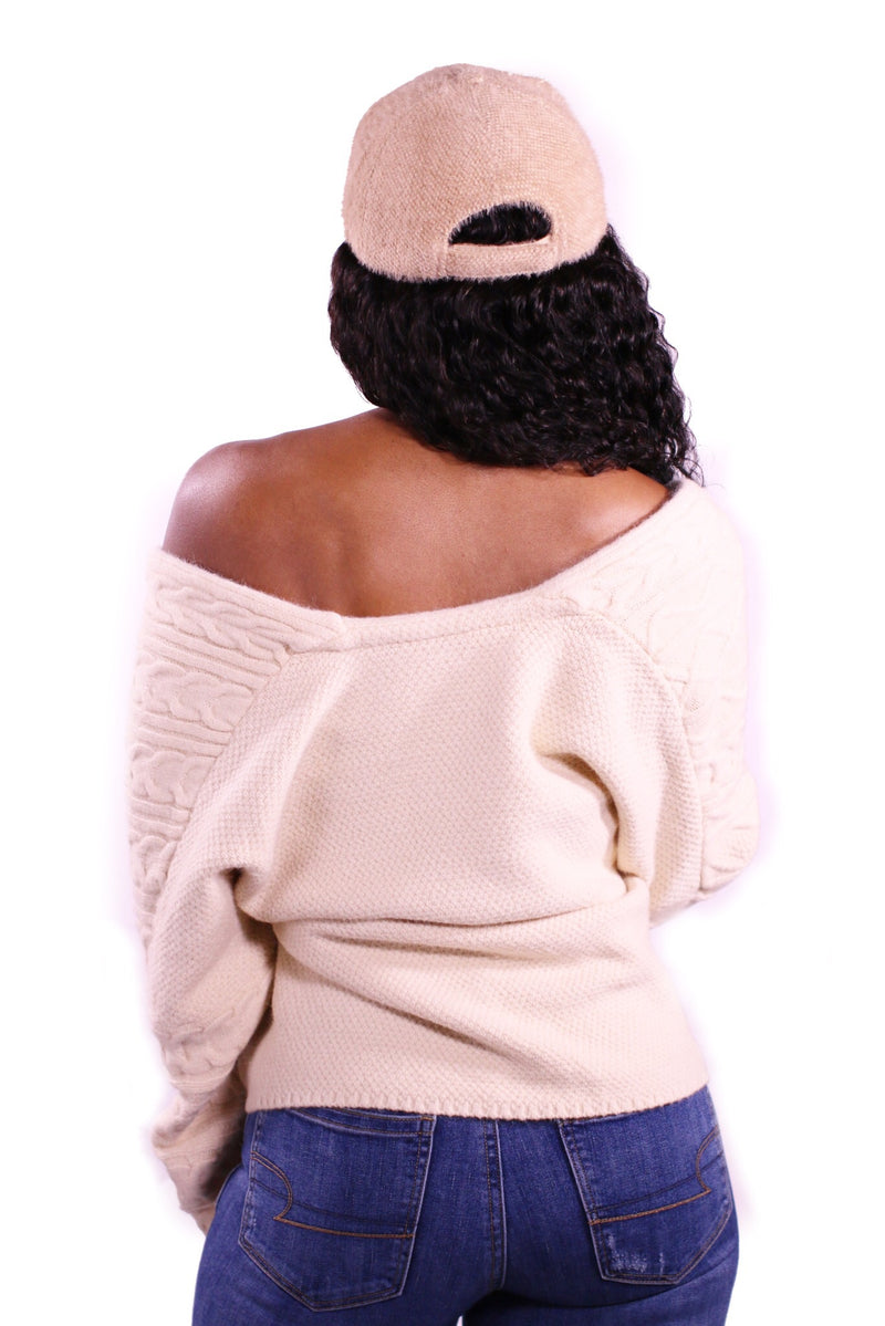 Tan Fuzzy Way Hat