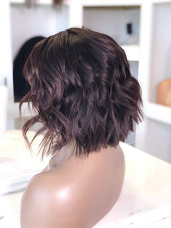 Medium Brown Wavy Bob Frontal Unit