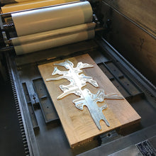 "Load image into Gallery viewer, Green Bird Press Letterpress Print - ""A Few Woodpeckers"""