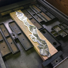 "Load image into Gallery viewer, Green Bird Press Letterpress Print - ""Broken Top & Three Sisters"""