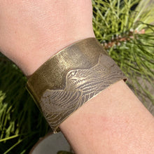 Load image into Gallery viewer, Three Sisters Wide Brass Cuff