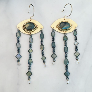 Navone Evil Eye Chandelier Earrings