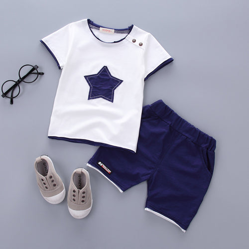Casual Star Baby Boy Shirt and Pants Set