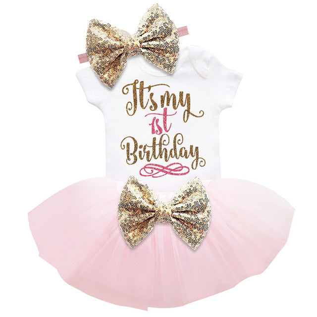 """It's My 1st Birthday"" Baby Girl Tutu Set"