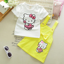 Adorable Little Kitty Shirt and Dress Set - Girls Dress Outfit