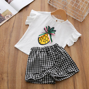 Two-Piece Fancy Top and Bottom Clothing Set – Girl's Varied Fashionable Outfits - Baby Outfits Galore