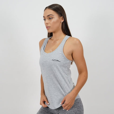 Grey Racer Back Singlet