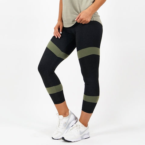 Charcoal / Khaki Leggings