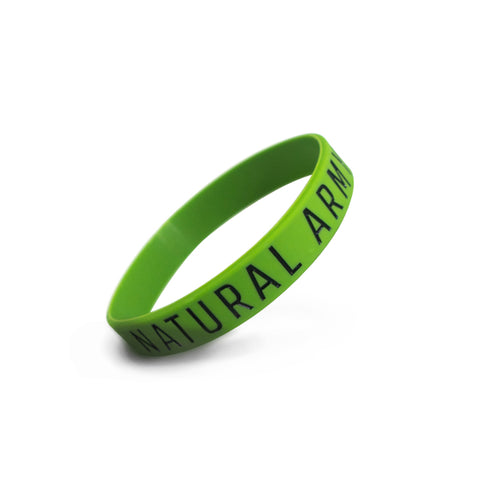 Green Natural Army Wristband
