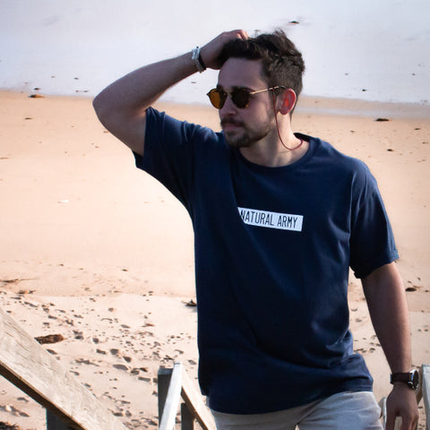 Navy Blue Vintage Logo T-shirt