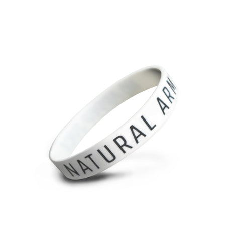 White Natural Army Wristband