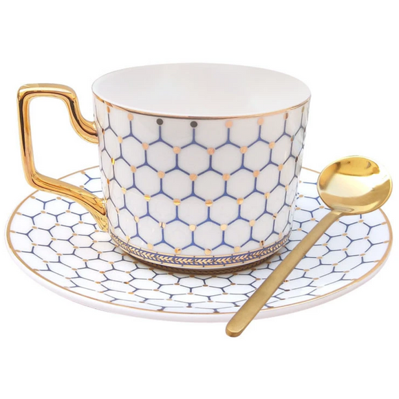 BRITISH HEXAGON TEA CUP COLLECTION