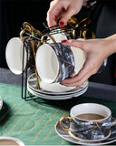 AFTERNOON TEA CUP COLLECTION ELECTROPLATED ROSE GOLD RIM